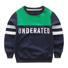 Children letter striped Korean version of the long-sleeved shirt