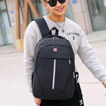 Wei's select fashion men's wear-resistant waterproof computer backpack hot trend computer backpack B-DSY8896 Black