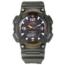 Casio AQ-S810W-3A Sports double display waterproof electronic watch-Navy Green