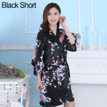 Farfi Short/Long Wedding Bride Bridesmaid Robe Lady Peacock Floral Bathrobe Sleepwear