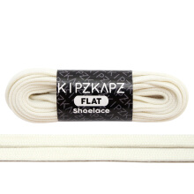 KIPZKAPZ FS75 Flat Shoelace - Vanilla White [7mm]