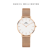 Daniel Wellington Petite Mesh Watch Melrose White Eggshell White 32mm