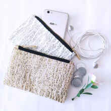 Stripe Pouch / Clutch / Tas / Dompet Pesta Sequin Small Size