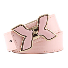 SiYing casual Ladies wide belt fashion candy color imitation leather