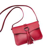 [COZIME] Women PU Leather Round Ring Tassel Bag Fashion Simple Single Shoulder Bag Others1