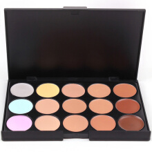BL 15Colors Facial Cream Palette Kits Concealer Powder Beauty Cosmetic -