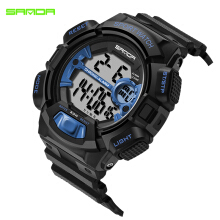 SANDA 2018 New Fashion Sport Watch Men Waterproof Watches LED Digital student Wristwatches