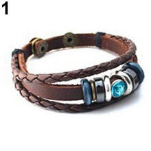 Farfi Women Lover Couple Multilayer Rhinestone Plastic Button Bracelet Bangle Jewerly