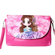 SiYing cartoon girl new PU leather cross section children's Messenger bag