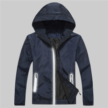 SiYing Stylish Comfortable Breathable Men's Jacket Solid Color Hooded Jacket