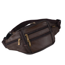 NJ Leather waist enveloping bag Multi-function sheepskin men's purse