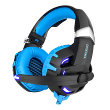 K2 Stereo Gaming Headset 2.2m Cable LED Light 7.1 Sound Effect Over-ear Headphones with Mic for Computer Game