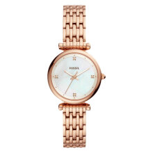 Fossil ES4429 Carlie Mini Ladies White Mother of Pearl Dial Rose Gold Stainless Steel Strap [ES4429]