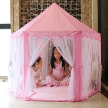Real Bubee 140 x 135cm Large Princess Castle Tulle Children House Game Selling Play Tent