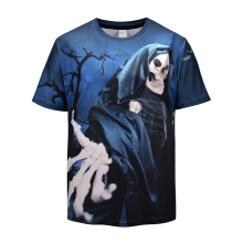 Aosen Men's Tees Halloween 3D print New fashion tops