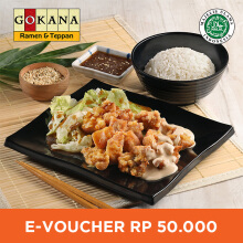 Gokana Ramen & Teppan - Voucher Value Rp 50.000