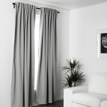 FOOJO Fureng finished curtains linked to the living room bedroom floor curtain fabric 2 meters wide * 2.7 m high gray gray