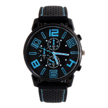 PEKY Women and Men Casual Simple Business Leather Quartz Analog Watch Women Dress Watch Blue