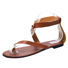 BESSKY Summer Women Ladies Sandals Strap Flat Ankle Roman Casual Shoes Thong Footwear_