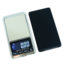 Jantens 500g/0.01g Electronic Scale Precision Portable Pocket LCD Digital Jewelry Scales Silver 500g/0.01g