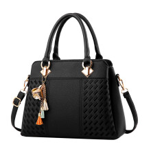 BESSKY Women Bag Fashion Woven Pattern Handbag Shoulder Bag_