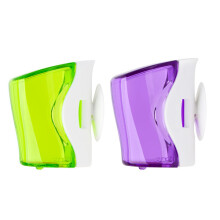 Flipper Basic Toothbrush Holder Green Purple 2pcs