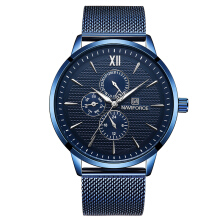 NAVIFORCE 3003 Original Fashion popular sports watch business authentic quartz male clock blue watch