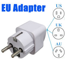 Blitzwolf Universal US UK AU To EU AC Power 2 Pin Travel Converter Adaptor Socket Charger   -  -