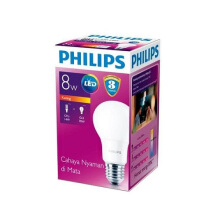 PHILIPS LED BULB 8W WW E27