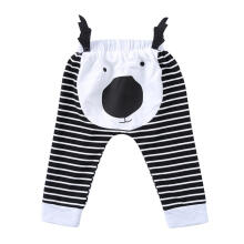 Farfi Baby Girl Boy Cute Cartoon Deer Stripe Causal Long Pants Soft Cotton Trousers
