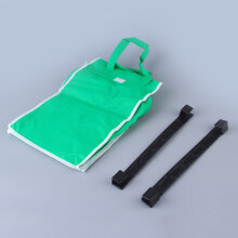 [COZIME] Reusable Durable Eco Bag Shopping Cart Tote-hooks on Cart-use Handles Green