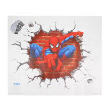 [kingstore] Kids Room Decor Wall Sticker 3D Spider Man Boy Gift Wall Decals Nursery Mural Multicolor