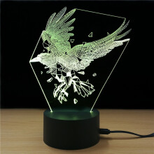 Shining Td311 Colorful Eagle Styling USB 3D LED Night Light Desk Lamp  - Colorful