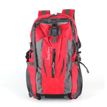 [kingstore]Large Capacity Nylon Unisex Travel Backpack Waterproof Hiking Camping Rucksack Red