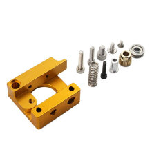 [kingstore]MK8 Extruder Aluminum Alloy Block 3D Printer Professional Right Hand DIY Kit Yellow Yellow & Silver