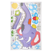 [kingstore] Elephant Removable Decor Wall Sticker/Decal Kid Child Height Chart Measure Multicolor