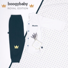BOOGY Baby Royal Edition His Majesty Long Top + Trousers, Swaddle, Box (0-3 Months)