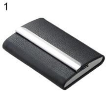 Farfi Magic Faux Leather Credit Card Holder Business Name ID Card Clip Case Wallet Bag