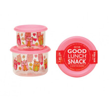 Sugar Booger Good Lunch Snack Containers Small Set of Two - Hoot!