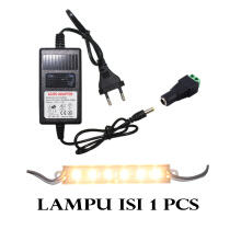 EELIC LAU-5050 -6LED mix ISI 1 PCS LAMPU  LED MODUL 6 MATA DAN ADAPTOR D-01 DAN JPD PLASTIK FEMALE