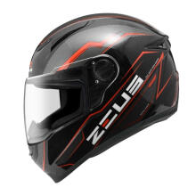 ZEUS HELMET ZS-811 AL12 - Helm Full Face - Black/Red