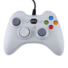 COZIME Wired Gamepad USB Port Controller Ergonomic Design Joystick For PC Gaming White