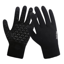 Fireflies A1023 Men's leather imported gloves outdoor riding touch screen plus velvet gloves
