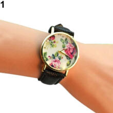 Farfi Women Rose Flower Dial Wristwatch Quartz Wrist Watch