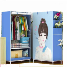 Shenar Lemari Pakaian Lemari Multifungsi Single Wardrobes Blue Girl