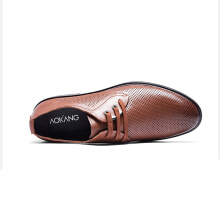 AOKANG 2018 New Arrival Shoes genuine leather shoes permable hollow men sandals casual business shoes brown