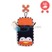 SkipHop Zoo Mitt Penguin With Hook Color Orange Black