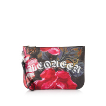 Alexander McQueen Painted Rose Zip Pouch