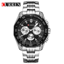 CURREN 8077 Brand Men Sports Watches Men Business Wrist Watches Casual Full Steel Men Watch Waterproof Reloj Relojes