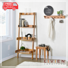 LIVIEN FURNITURE- Rak Buku Susun 4 Tingkat Maple Story - Brown
